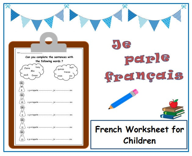 INTRODUCING YOURSELF with French Printable / Primary Teacher /