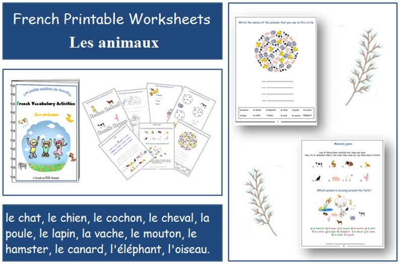 graphic about Printable Vocabulary Activities referred to as FRENCH PRINTABLES / Worksheets for Instructor / Animal Vocabulary Things to do / French Clroom / French Printables / French Trainer