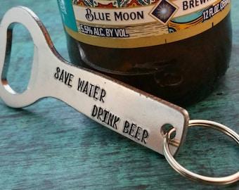 Personalized Bottle Opener, Gift for Beer Drinker, Present for Dad, Husband,