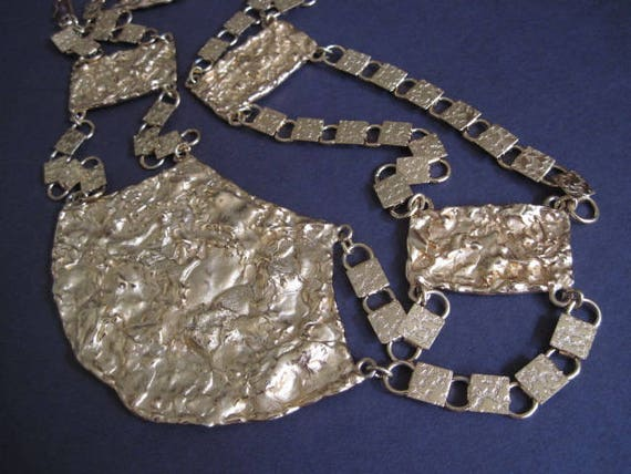 Vintage Napier Gold Statement Metal Chain Belt