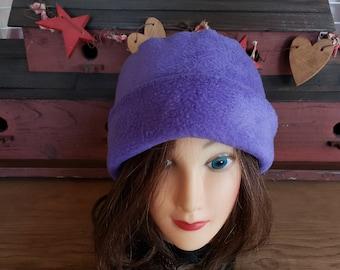 8d6cba49 Women's Fleece Hat. Purple Polar Fleece Hat