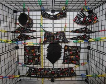 15  Pc  -  isney Mick Mouse - Sugar Glider Cage Set - Rat