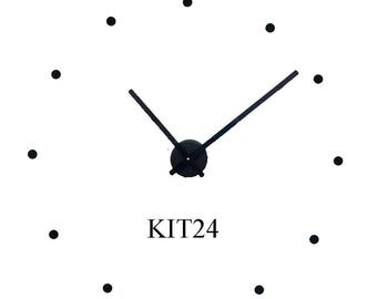 Wall Clock Kit to make 24 inch wall clock  with contemporary hands