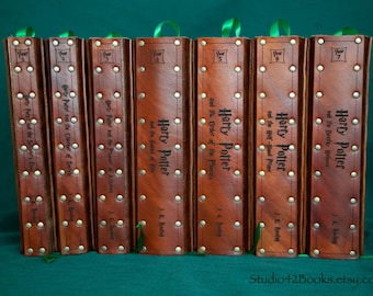 All 7 Harry Potter books with Leather covers.