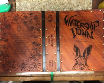 Leather covered copy of Watership Down by Richard Adams