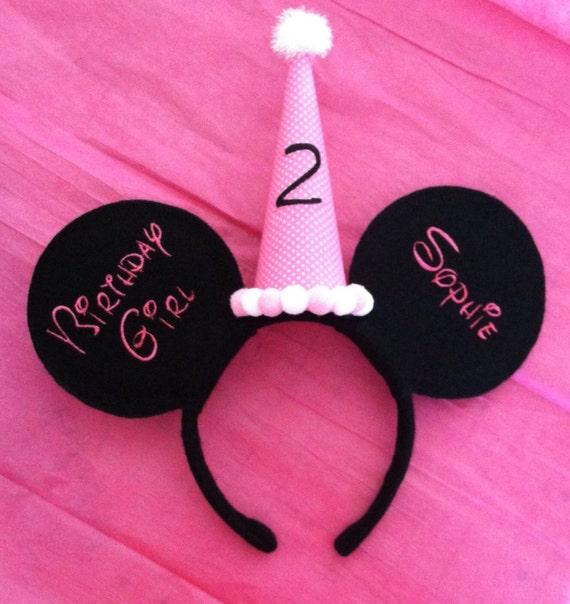 Disney Ears Disney Birthday Girl Minnie Mouse Ears