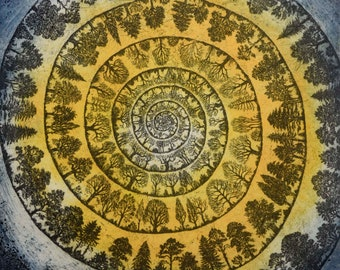 The Spiral Pathway, a limited edition etching