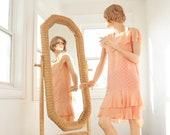 Vintage free-standing wicker mirror, tall vertical natural neutral tan brown rattan wood swivel full length floor, 1970s boho retro