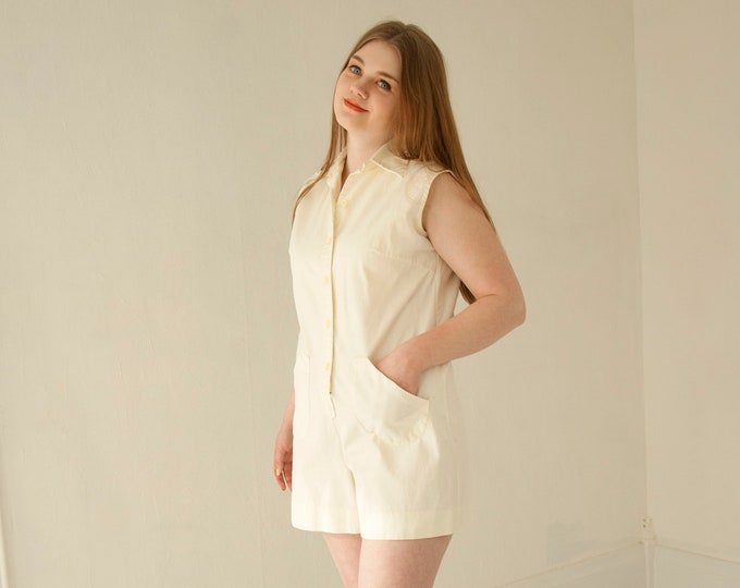 13fd3eb62131 Vintage white cotton romper