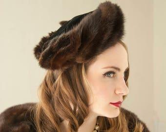 075e69c0a5d03 Vintage 1940s fur beret hat