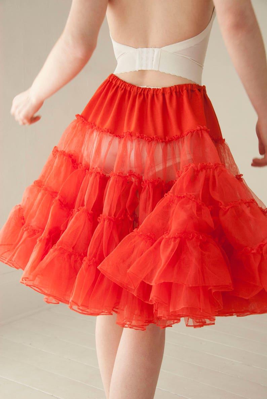 80e4ed9092 Vintage red petticoat skirt full short crinoline tulle circle | Etsy