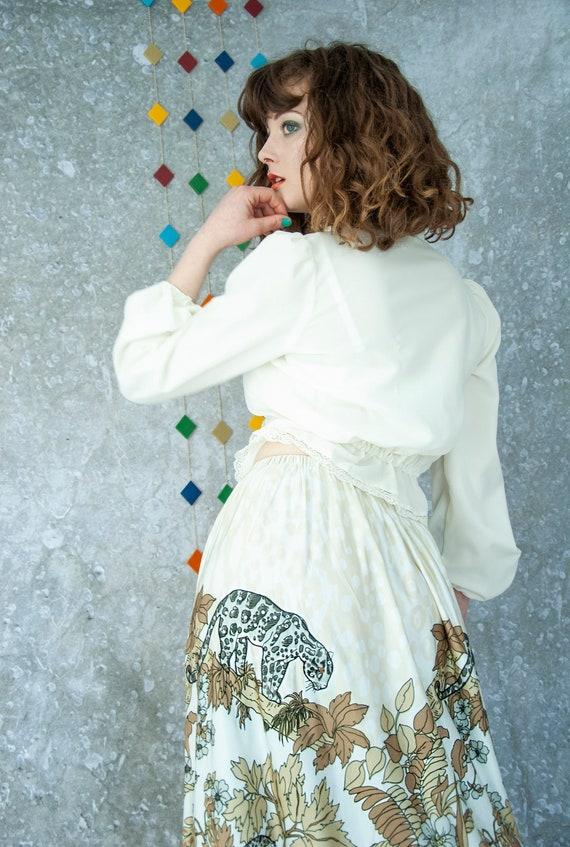 Vintage leopard high-waist maxi skirt, novelty pri