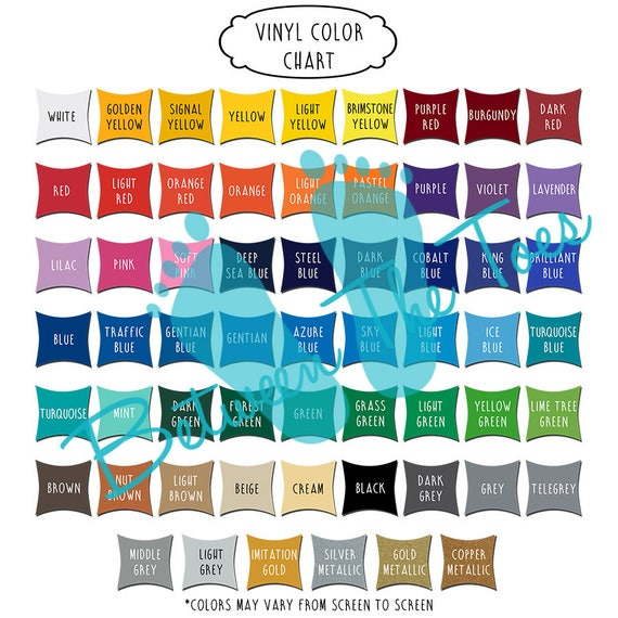 Oracal 651 Color Swatch Sample Display Chart Etsy