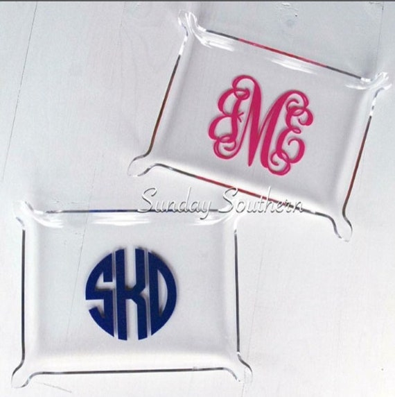 Monogrammed Acrylic Tray - Jewelry Tray Personalized - Personalized Vanity Tray - Custom Acrylic Tray - Desk Tray - New Home Gift