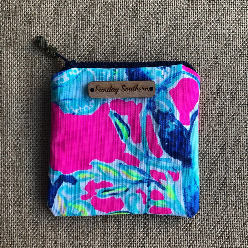 LIlly Pulitzer Mini Zipper Pouch image 0