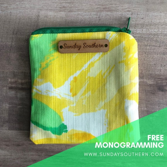 Tropical Print Mini Zipper Pouch - La Via Loca