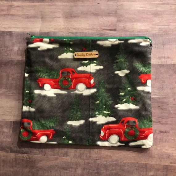 Winter Red Truck Slouch Sack