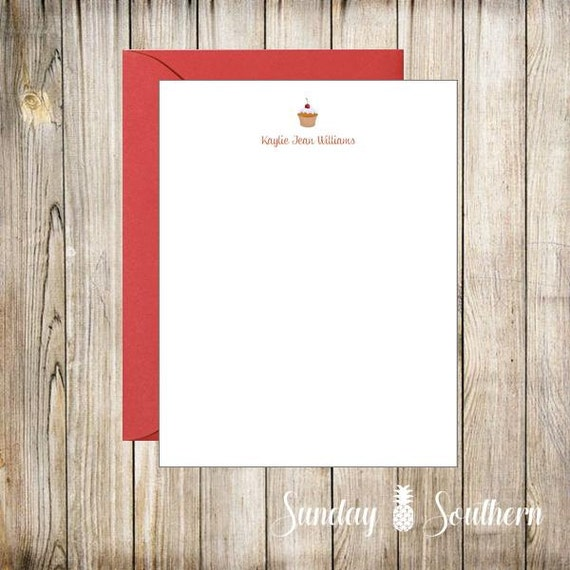 Foods Themes - Personalized Note Cards - Set of 16 with Envelopes