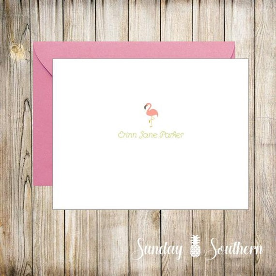 Beachy Themes - Personalized Note Cards - Set of 16 with Envelopes