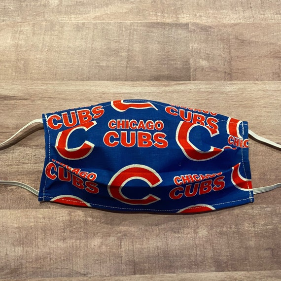 Chicago Cubs Baseball Mask- Fabric Face Mask Covering - Adults and Kids