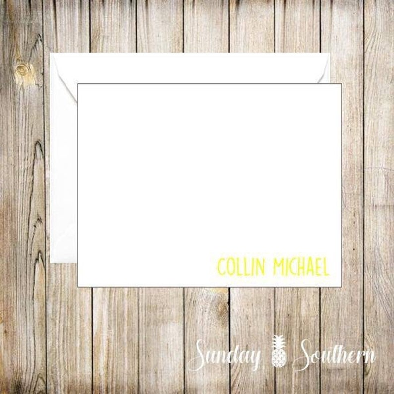 Monogrammed Personalized Note Card Set