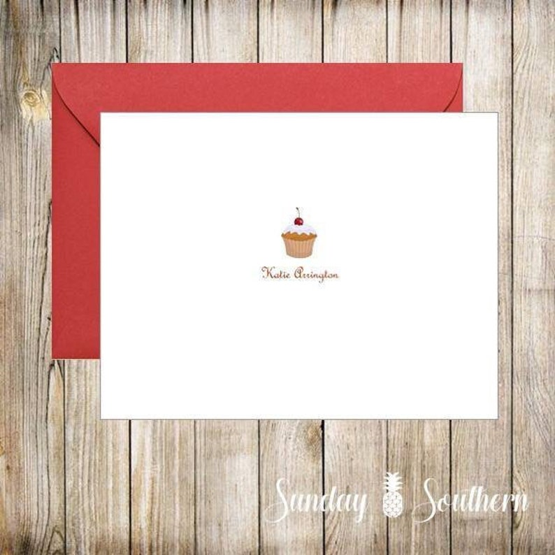 Monogrammed Personalized Note Card Set image 0