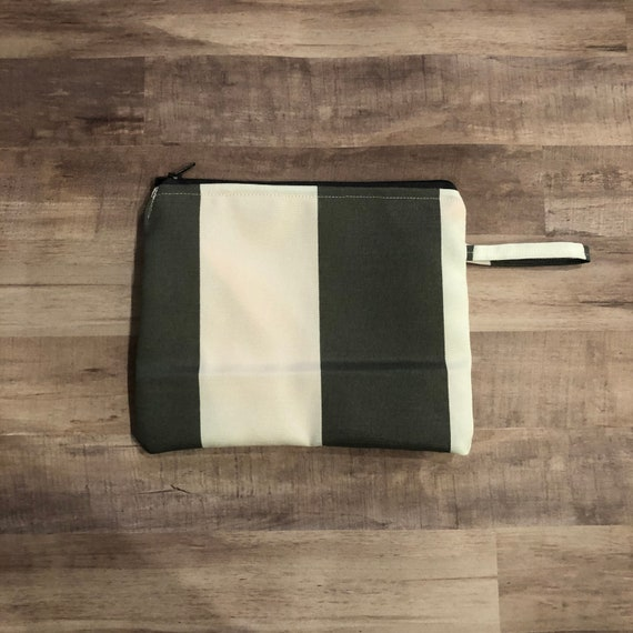 Gray Cabana Stripe Small Wet Bag