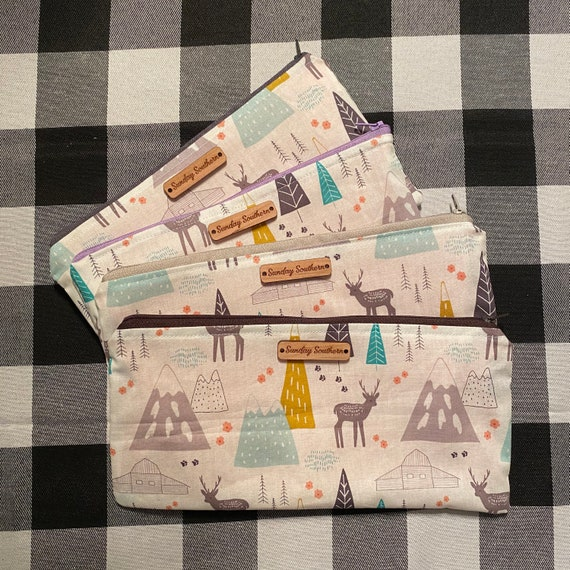Into the Wild - Whimsical Wilderness Zipper Bags