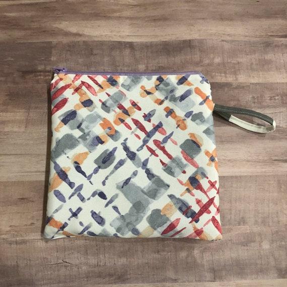 Watercolor Crosshatch Wet Bag