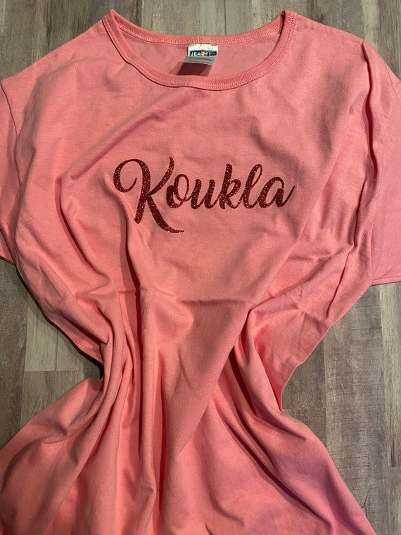 Display - Pink Koukla Greek Tshirt