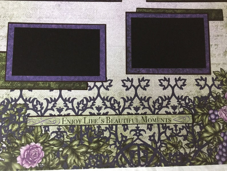 Wine Vinyard Themed 2 Page Layout 12 x 12 Scrapbook 2 Page 2 Page 12x12 Layout by Island Lilly Designs