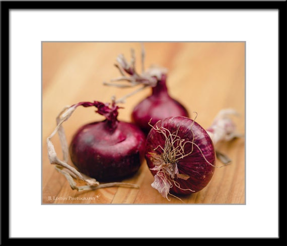 Red onion slice Canvas Wall Art Print Onion Home Decor