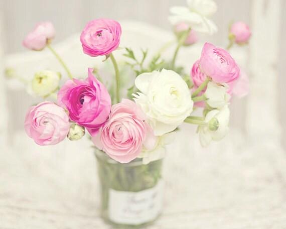 Flower photography pink white ranunculus flowers french etsy image 0 mightylinksfo