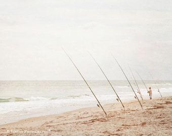 Florida Beach Photography - Fine Art Photograph - Beach - Beach Photography - Ocean - Landscape Photography - White Tan Blue Home Decor