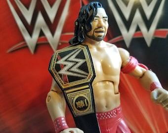 Shinsuke Nakamura World Heavyweight Championship belt for wrestling figures