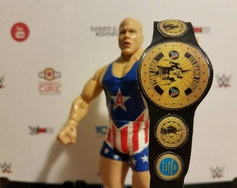 Kurt Angle Tribute Heavyweight Championship belt for wrestling figures