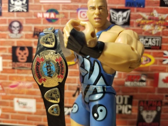2 ECW ClassicTag Team Custom Wrestling Figure Belts Action figure not included