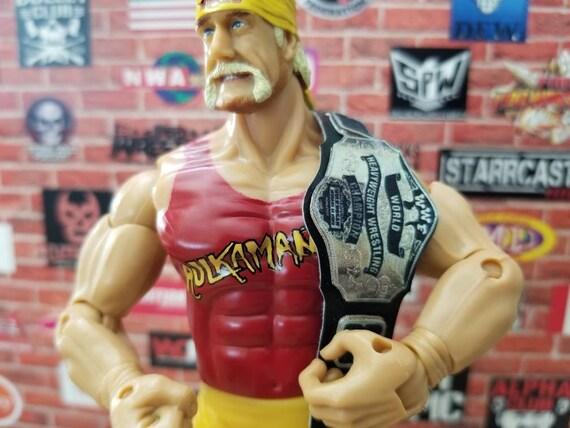 WCW World Heavyweight Championship Title Belt WWE Jakks Figure Accessory Small