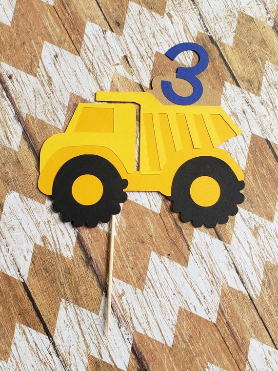 Terrific Dump Truck Birthday Cake Topper Dump Truck Party Dump Etsy Funny Birthday Cards Online Elaedamsfinfo