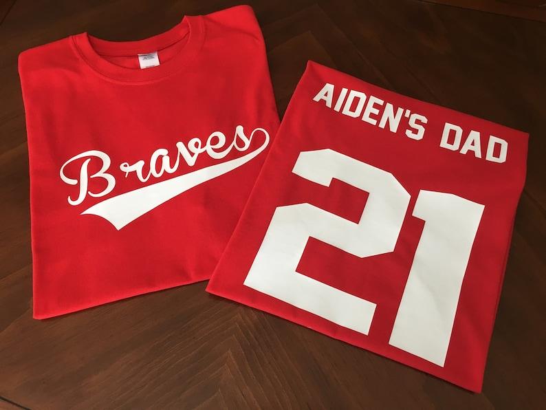 Custom Parent Sports Team Shirts - Baseball Dad Shirt - Baseball Mom Shirt  - Football Mom Shirt - Football Dad Shirt - Kids Team Shirts