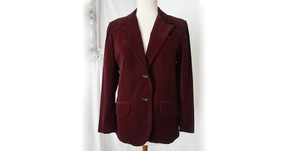 Purple Velvet Women's Jacket  / Vintage Business S