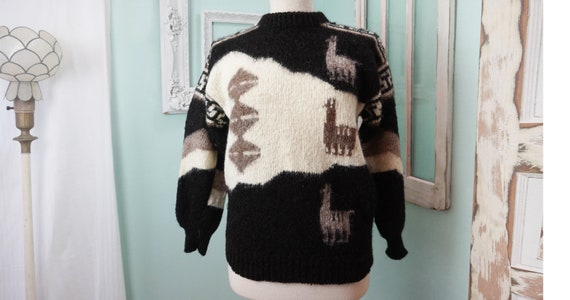Stylish Alpaca Wool Sweater / Pullover Women Sz L