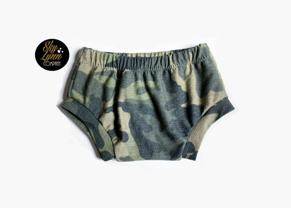 Bummies Gray Baby Grey Toddler Shorties Boys Bummie Diaper Covers Camouflage Camo Bathing Suit Baby Boy