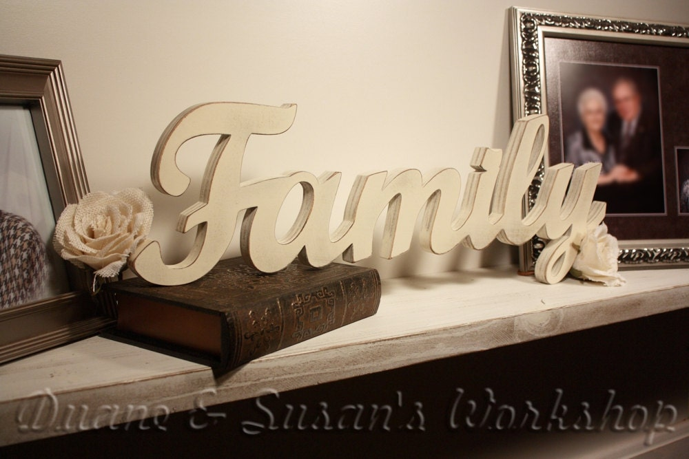Family Sign Wall Hanging Wooden Letters