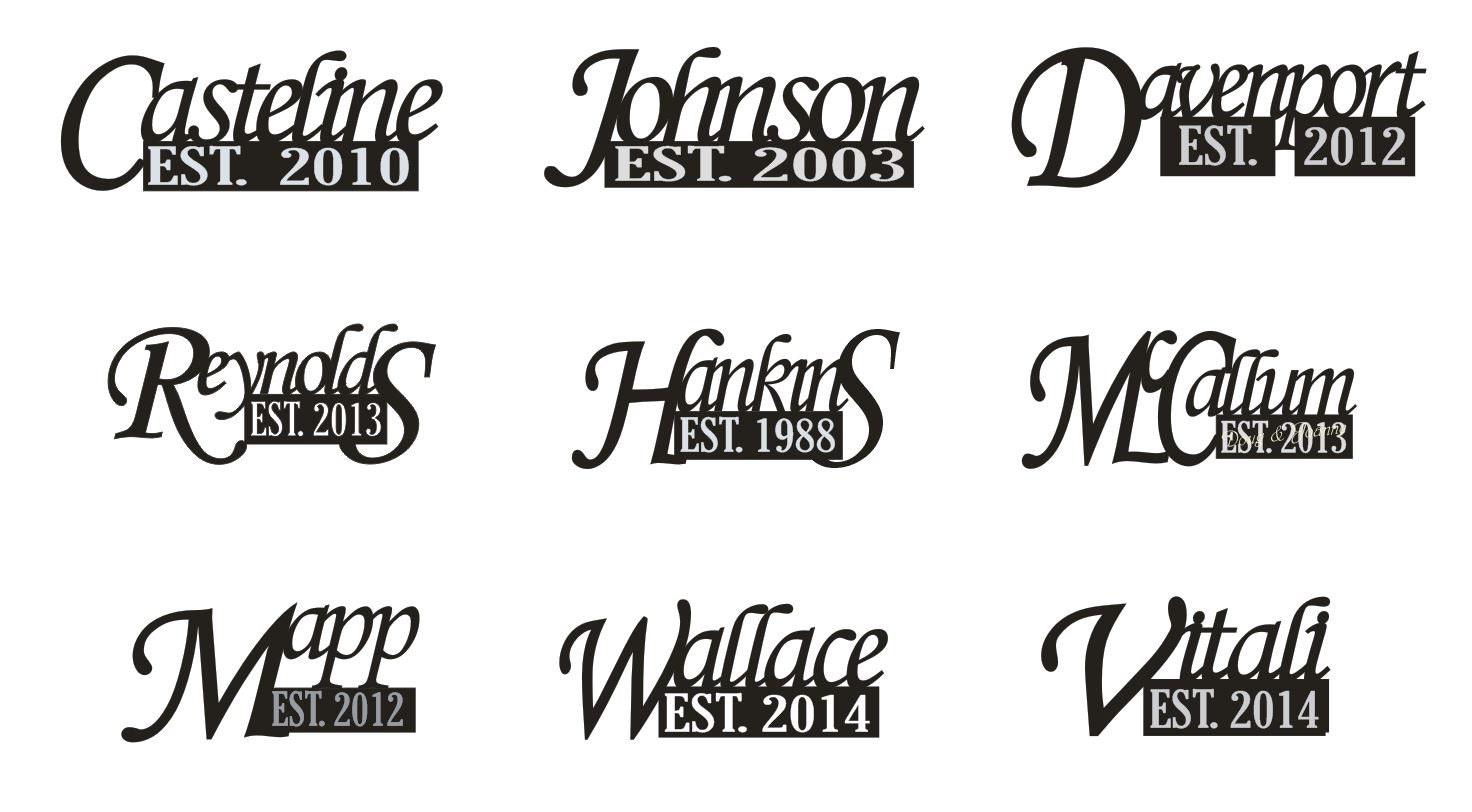 "ON SALE 10"" Black Established Sign, Family Name sign, Personalized, Engagement, Wedding Decor, Wedding, Decor, Mr & Mrs"