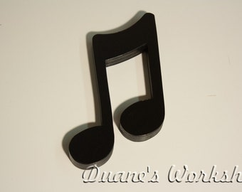 """8"""" music note, decoration, home decor, musical note decoration, wooden music note, black,"""