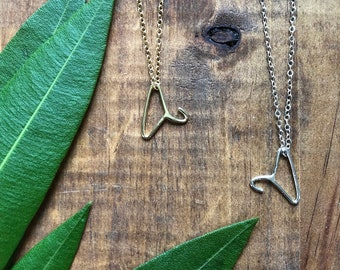 Petite Coat Hanger Necklace