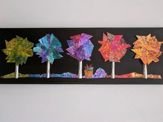 Rainbow Trees Aluminum Soda Can Wall Art