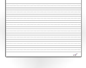 graphic about Printable Lined Paper for Kindergarten titled Preschool Composing Paper Included Paper for Kindergarten Etsy