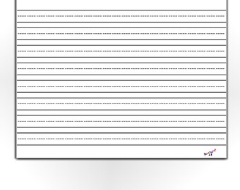Lined Paper For Kids, Blank Lined Paper, Preschool, Kindergarten, Home  School Kids